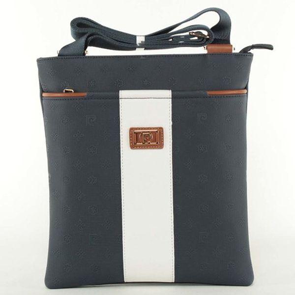 Dámská modro-bílá kabelka Pierre Cardin