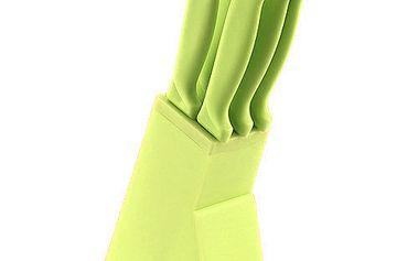 Smart Cook Blok s noži 21cm, 6 ks plastové zelený