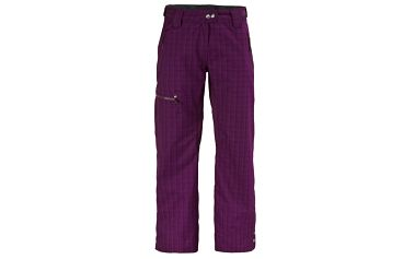 Pant Womens Omak dark purple plaid, fialová, M