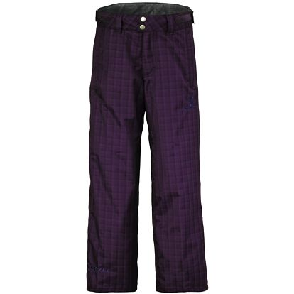 Pant Juniors Slope dark purple plaid, fialová, S