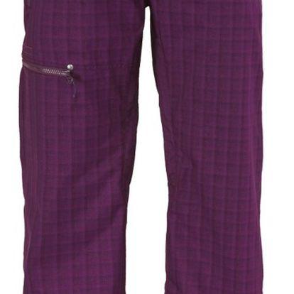 Pant Womens Omak dark purple plaid, fialová, M