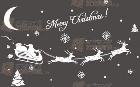 Vánoční samolepka se Santou a soby a poštovné ZDARMA! - 9999914423