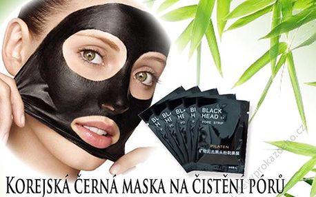Korejská černá maska na čištění pórů - 10 ks s dopravou zdarma