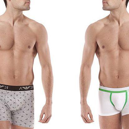 Značkové pánské boxerky Calvin Klein a Emporio Armani