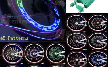 LED světýlka na kolo tvořící barevné vzory a poštovné ZDARMA! - 9999914467