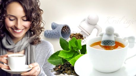 KRÁL ČAJE - designové sítko na sypaný čaj v podobě panáčka, který vše udělá za Vás! Celosvětový hit!