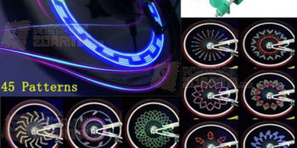 LED světýlka na kolo tvořící barevné vzory a poštovné ZDARMA! - 31414467