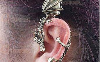 Náušnice ve tvaru draka - na celé ucho a poštovné ZDARMA! - 9999910647