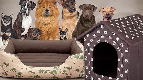 Pelíšky pro psy, různá provedení a velikosti