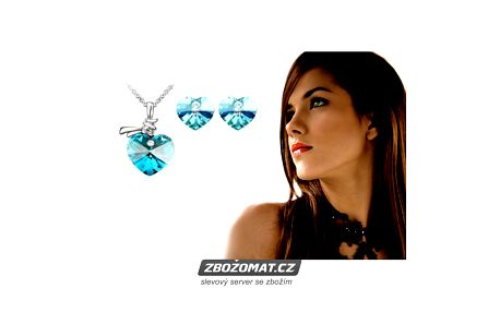 Set Swarovski Elements Crystal Ocean Heart - pro krásnou ženu krásný šperk!