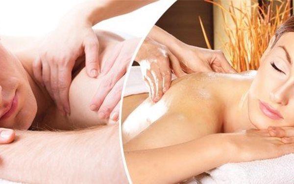Uvolňující relaxační masáž zad + rukou + šíje