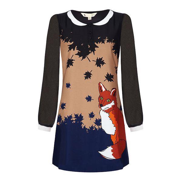 Dámské barevné šaty s liškou Yumi