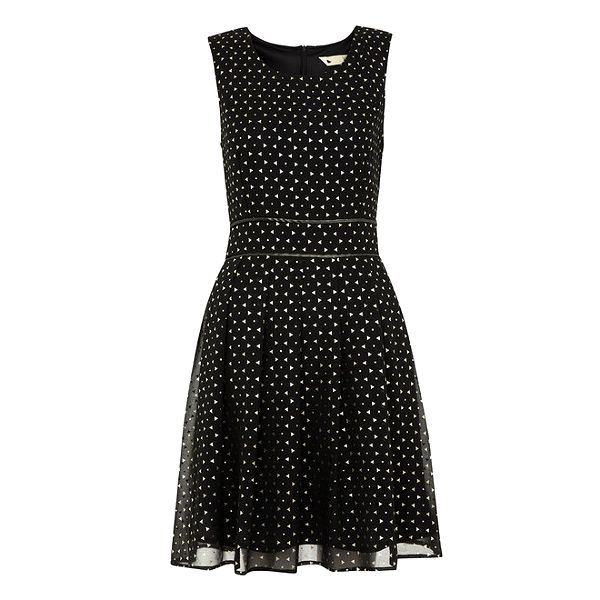 Dámské černé šaty s trojúhelníčky Yumi