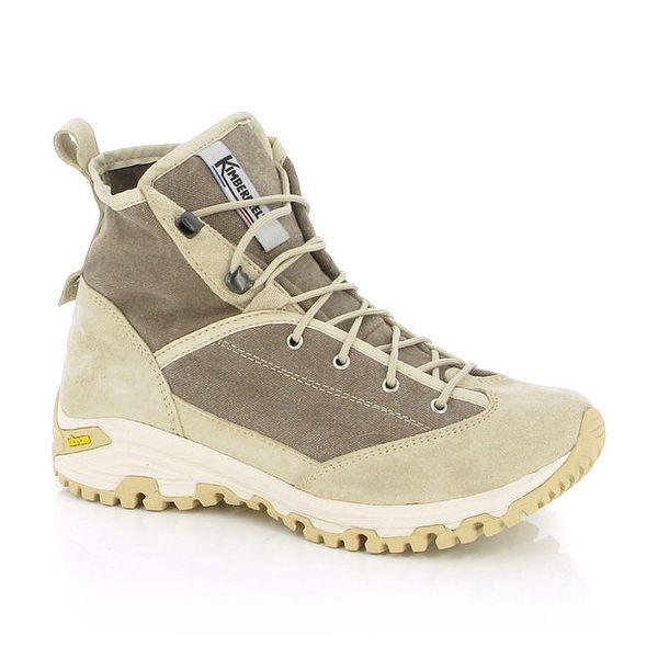 Dámské béžové trekové boty Kimberfeel