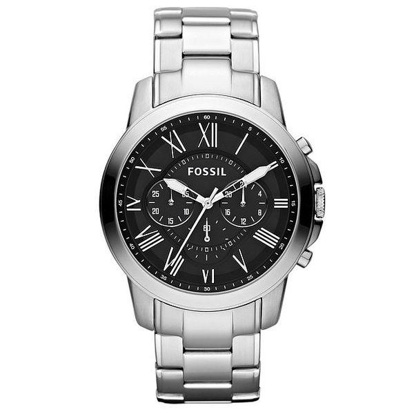 Pánské ocelové hodinky s černým ciferníkem Fossil