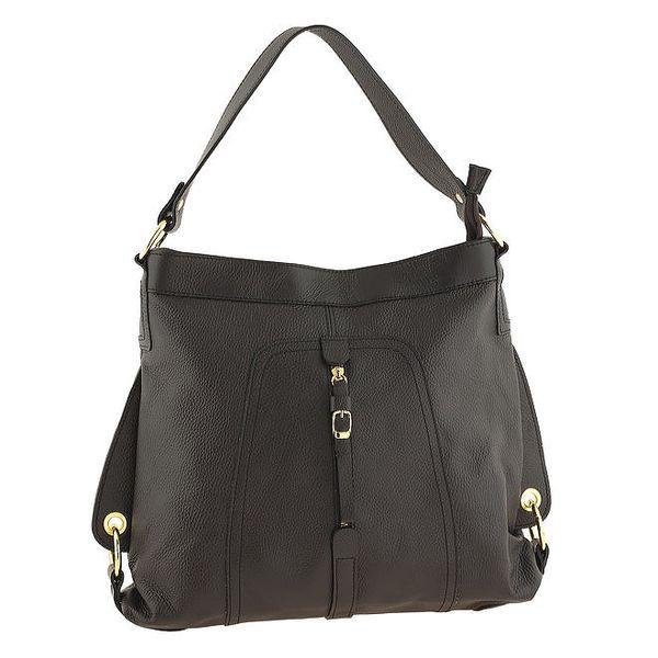 Dámská tmavá kožená kabelka Tina Panicucci