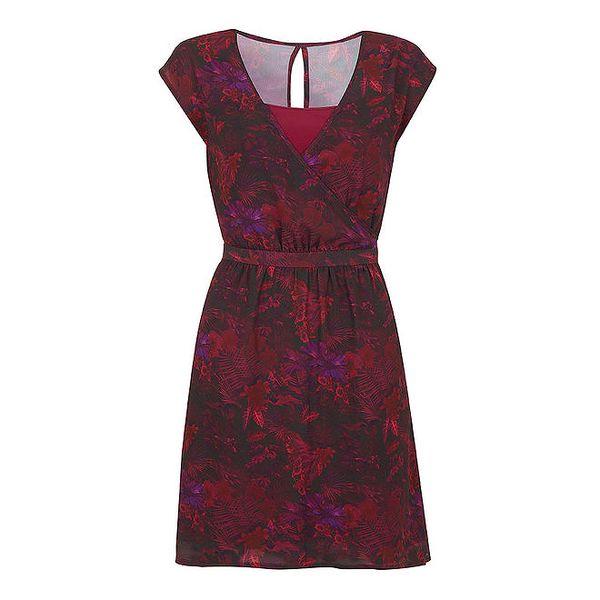Dámské malinové vzorované šaty Yumi
