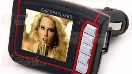 MP4 FM transmitter s 1,8'' TFT displejem na flashku a paměťovou kartu SD a poštovné ZDARMA! - 31601549