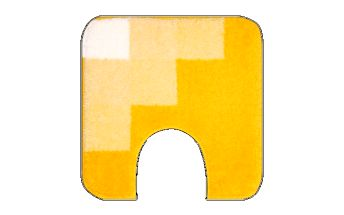 WC předložka Grund UDINE žlutá, 50x50 cm