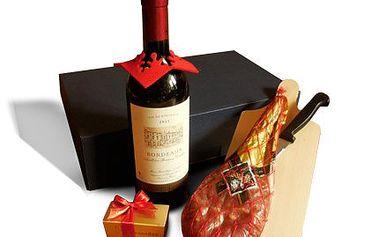 Španělská sušená kýta s vínem Boredaux a pralinkami Leonidas!