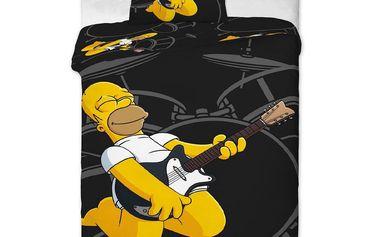 Jerry Fabrics Povlečení Homer kytara bavlna 140x200 70x90