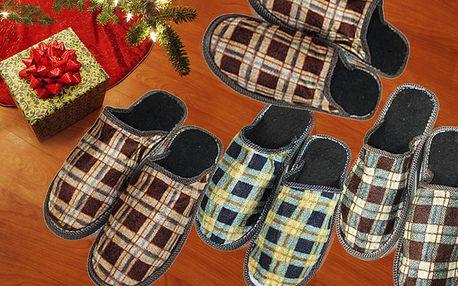 Pantofle 4 páry - mix velikostí s poštovným zdarma