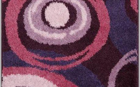 Grund PACIOS Koupelnová předložka fialová, 50x60 cm