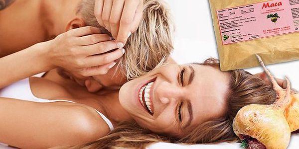 Afrodiziakum Maca prášek v BIO kvalitě. Vyzkoušejte i vy sílu peruánské léčivé byliny - afrodisiakum Maca. 100% přírodní prášek posiluje a omlazuje celý váš organismus, navrátí vám vitalitu a energii, stimuluje vaše a partnerovy sexuální touhy.