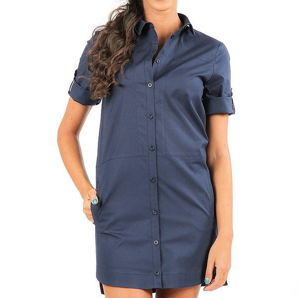 Dámská modrá prodloužená košile Isabel Queen