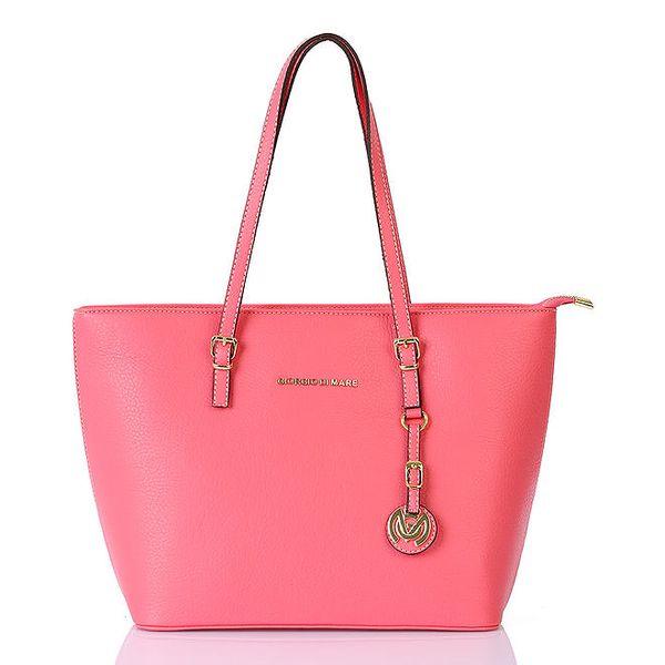 Dámská růžová kabelka s přívěskem Giorgio di Mare