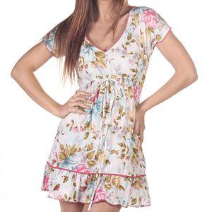 Dámské krátké šaty s barevným potiskem Azura