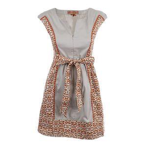 Dámské šaty s tmavě oranžovým vzorem Rosalita McGee