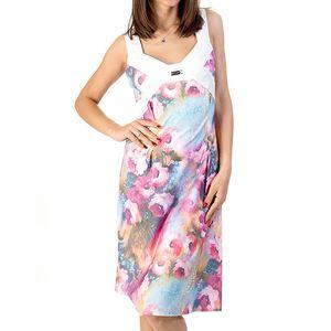 Dámské barevné šaty s květinovým potiskem Avantgard