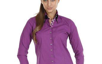 Dámská fialová košile s dlouhým rukávem Pontto