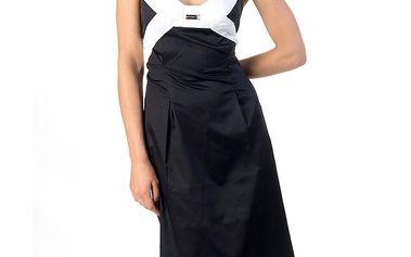 Dámské černo-bílé šaty Avantgard