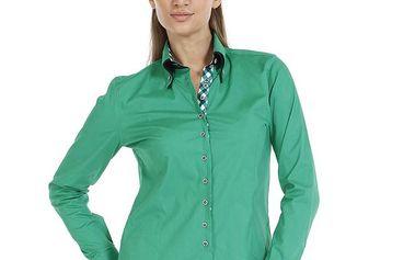 Dámská smaragdová bavlněná košile Pontto