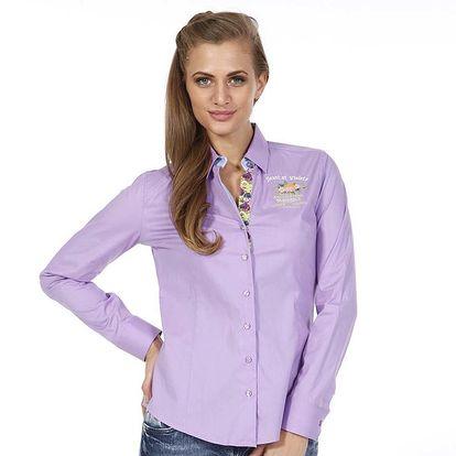 Dámská světle fialová košile s kytičkou Pontto