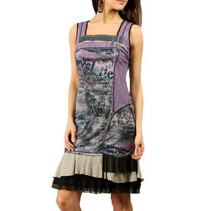 Dámské fialové šaty bez rukávů Squise