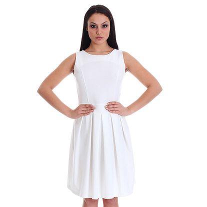 Dámské bílé šaty se srdcovým průstřihem SforStyle