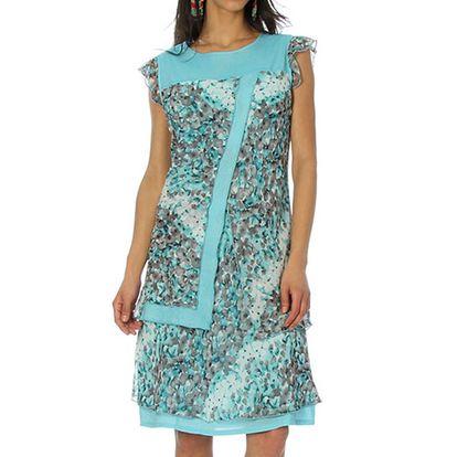 Dámské světle modré šaty s krátkým rukávem Squise