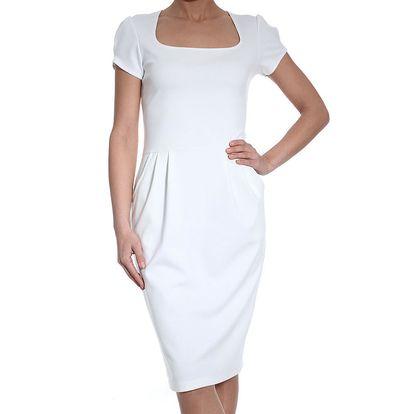 Dámské bílé šaty SforStyle