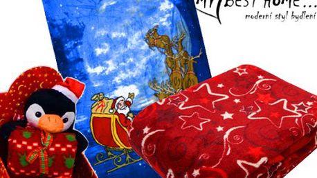 Měkoučké, heboučké a hřejivé deky s vánočními motivy