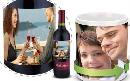 Dárkový hrníček nebo výtečné víno s vlastním designem!