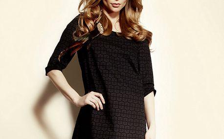 Dámské černé vzorované šaty Andrea G Design