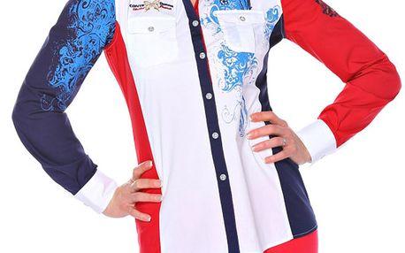 Dámská modro-bílo-červená košile M. Conte