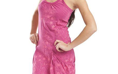 Dámské růžové šaty s květinovým potiskem Alpine Pro