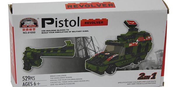 Stavebnice Pistol 2v1 529 dílků