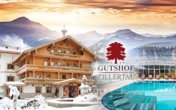 Luxusní rakouský hotel Gutshof Zillertal**** na 3 až 6 dnů s POLOPENZÍ, masáží, WELLNESS, bazénem a lyžováním!