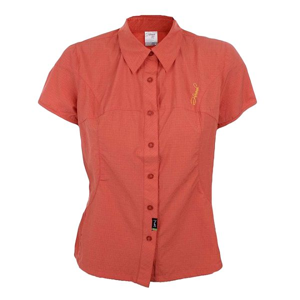 Dámská tmavě oranžová kostkovaná košile Hannah