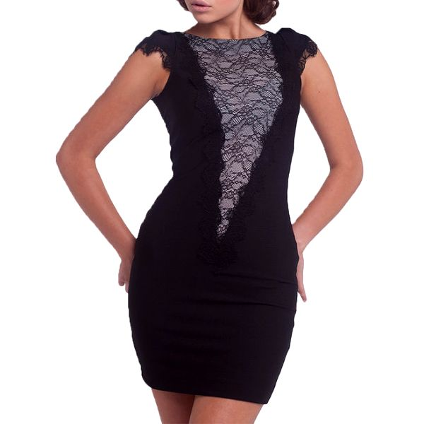 Dámské černé krajkové šaty Arefeva